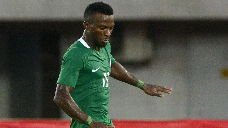 Olanrewaju Kayode during the Afcon 2019 qualifier between Nigeria and South Africa