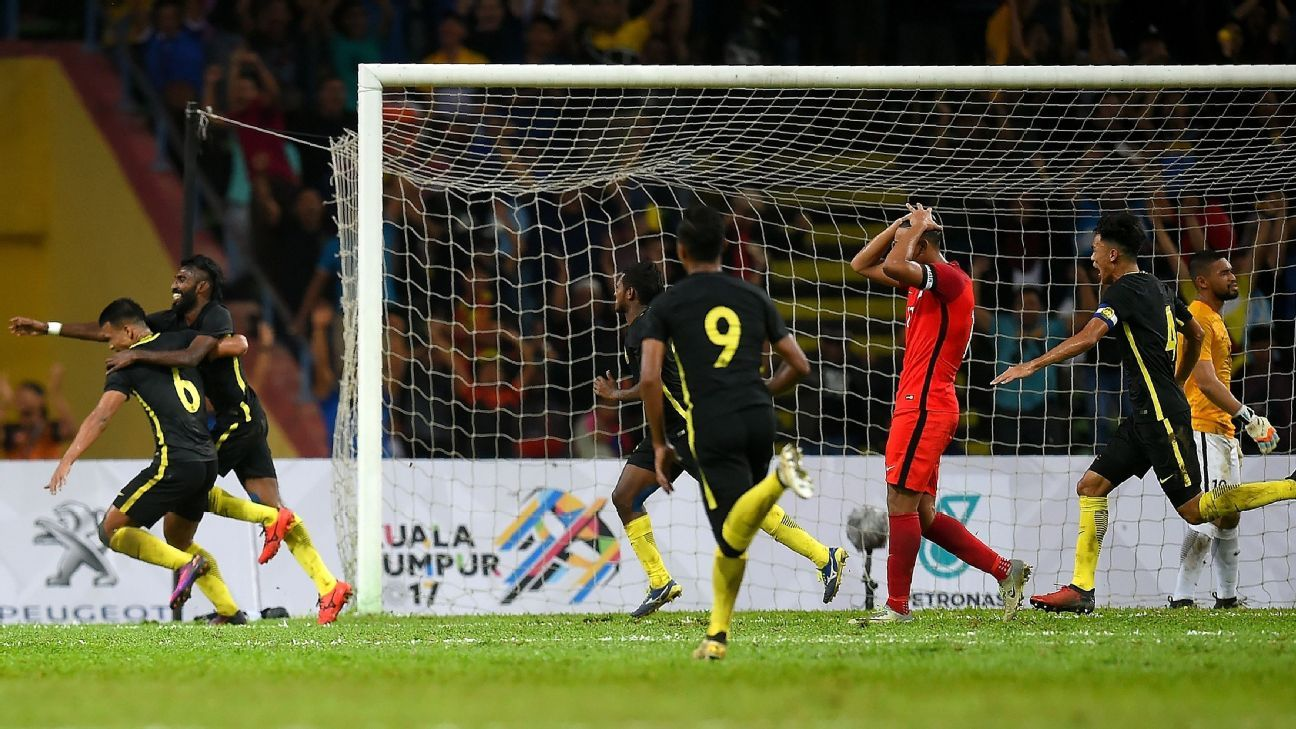 Thanablan goal for Malaysia v Singapore in 2017 SEA Games