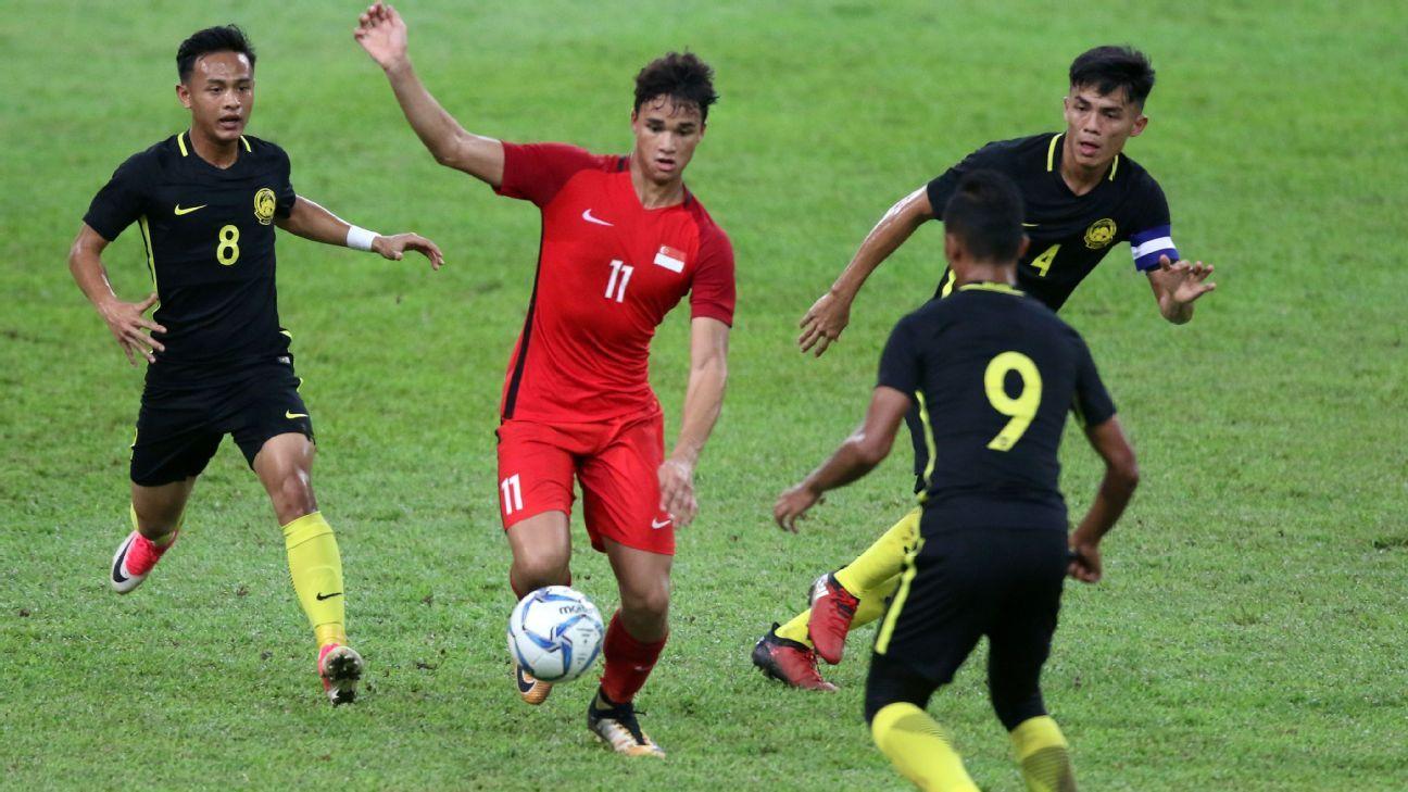Ikhsan Fandi of Singapore v Malaysia 2017 SEA Games