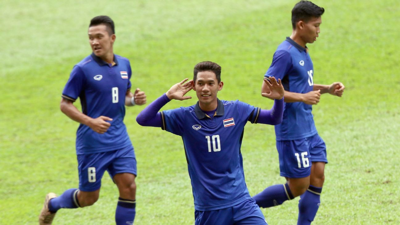 Chaiyawat and Thailand celebrate 2017 SEA Games goal