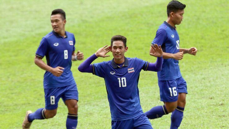 Chaiyawat and Thailand celebrate 2017 SEA Games goal