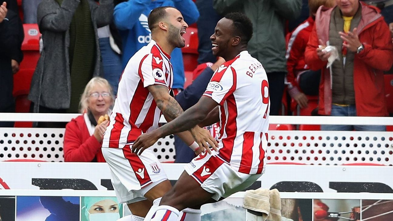 Jese Rodriguez scored on his Stoke debut.