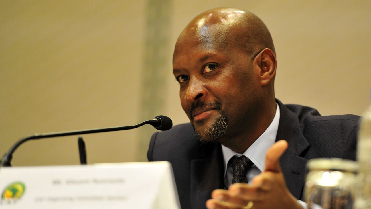 Vincent Nzamwita, CAF Organising Committee member during the 2016 CHAN Rwanda CAF CHAN Press Conference at Serena Hotel, Kigali on the 15 January 2016.