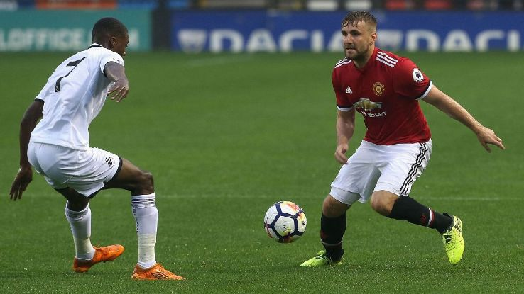 Luke Shaw vs. Swansea 20170821