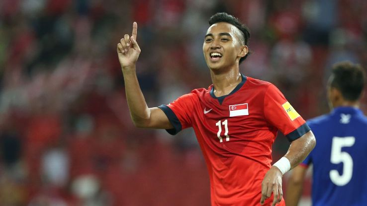 Faris Ramli scores for Singapore v Cambodia 2015