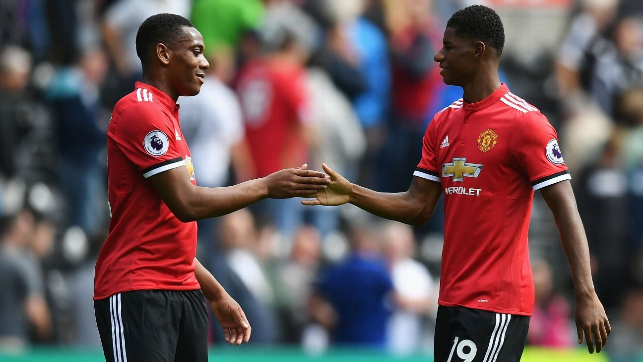 Anthony Martial and Marcus Rashford.