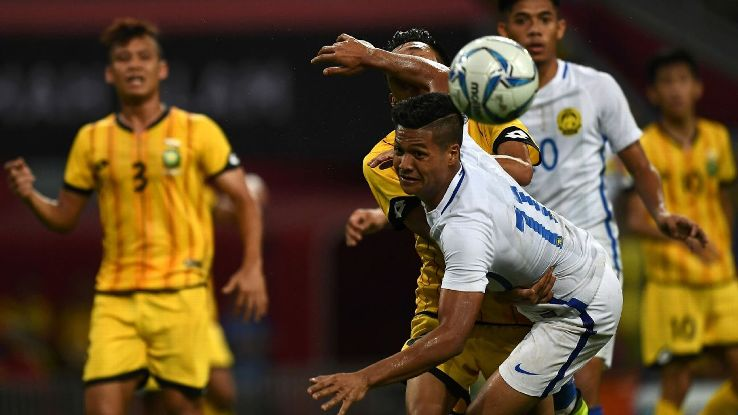 Malaysia forward Jafri Firdaus Chew in SEA Games