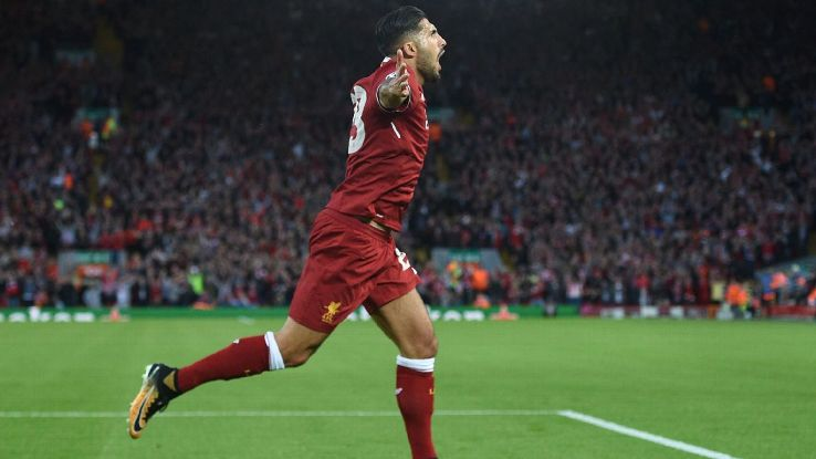 Emre Can scored twice for Liverpool against Hoffenheim