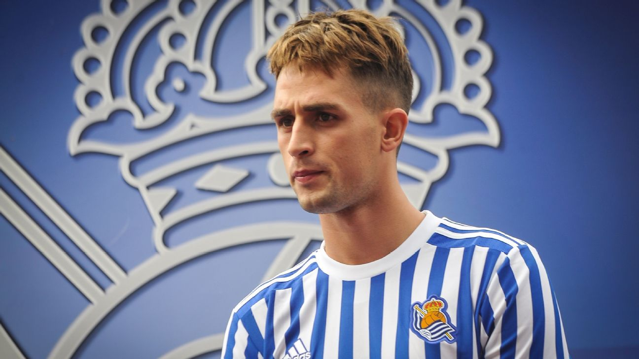 Adnan Januzaj is presented as a Real Sociedad player after joining the club from Manchester United.