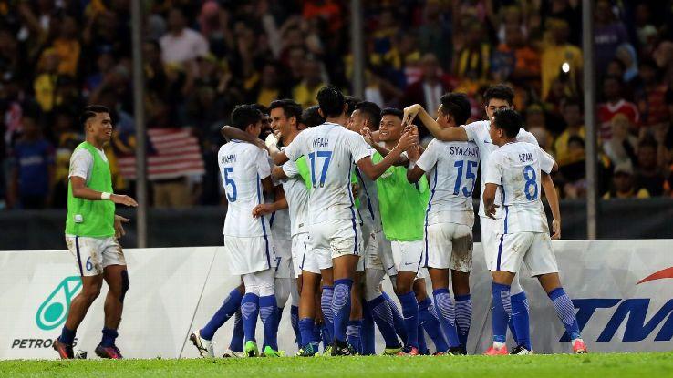 Malaysia score winning goal in SEA Games semi v Indonesia