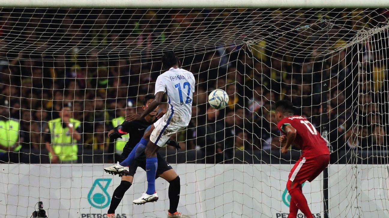 Thanabalan scores winning goal for Malaysia v Indonesia SEA games