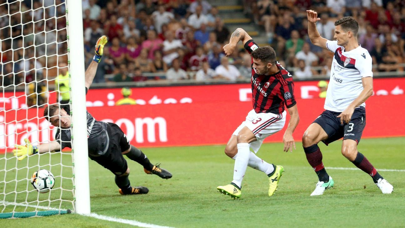 Teenager Patrick Cutrone scored again for AC Milan on Sunday.