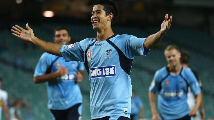 Malaysia midfielder Brendan Gan scores for Sydney FC in 2011