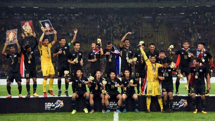 Thailand celebrate SEA Games gold medal