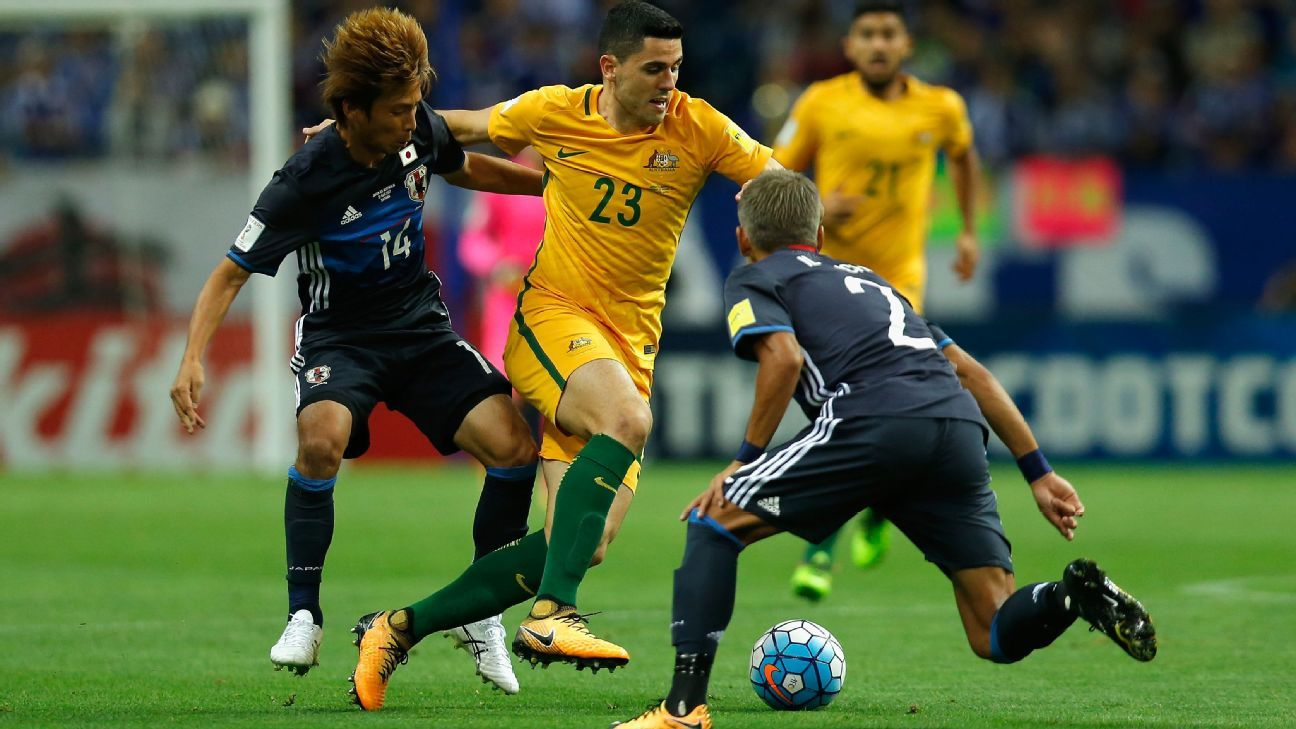 Tom Rogic of Australia v Japan