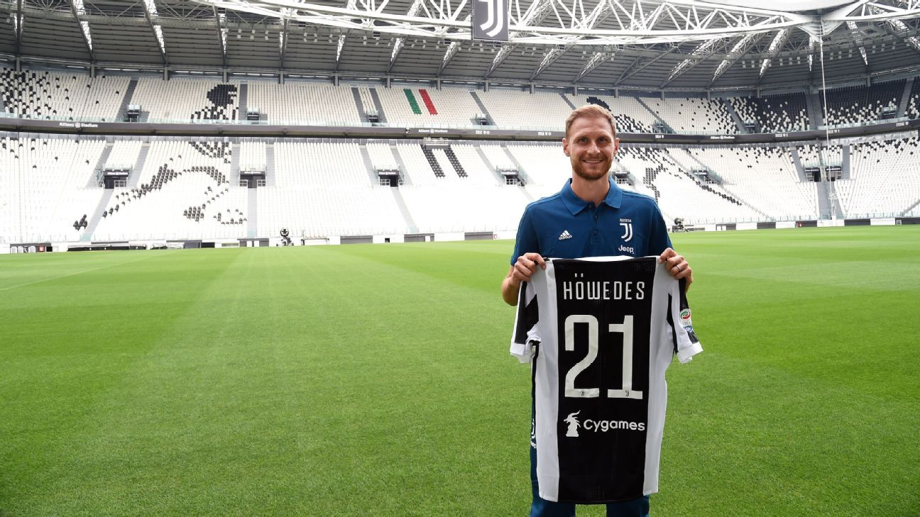 Benedikt Howedes at Juventus' Allianz Stadium.