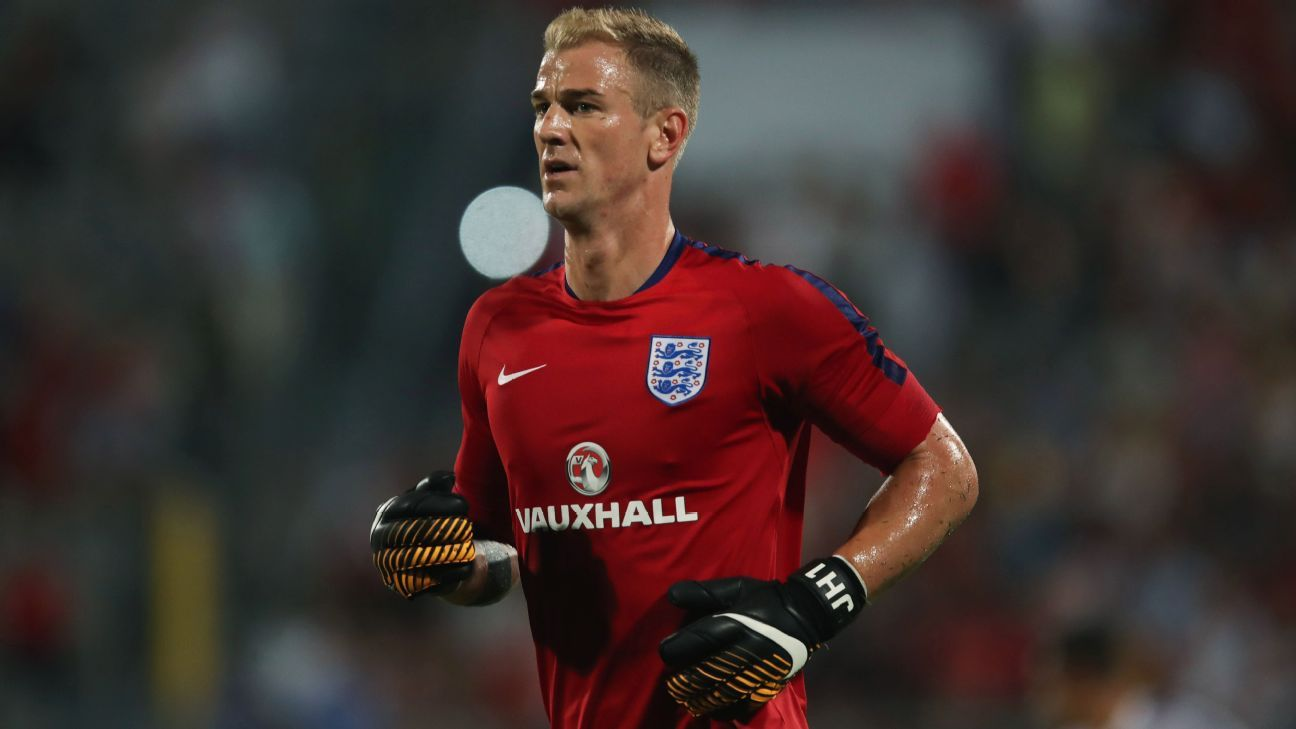 Joe Hart was left out of England's World Cup squad.