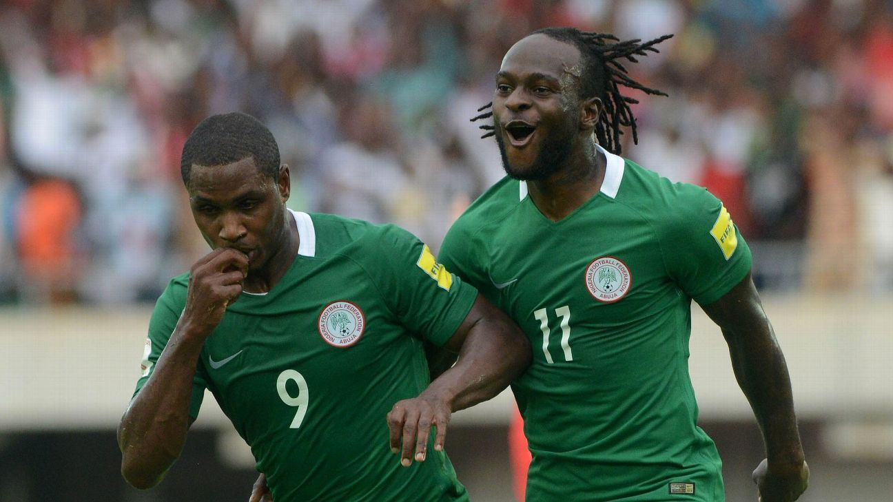 Odion Ighalo and Victor Moses