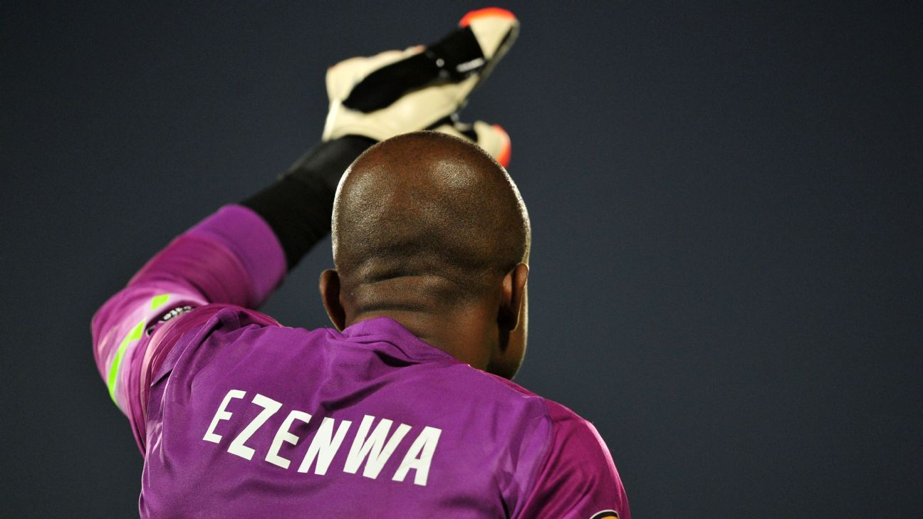 Ikechukwu Ezenwa of Nigeria featured for the Super Eagles during the World Cup qualifying campaign