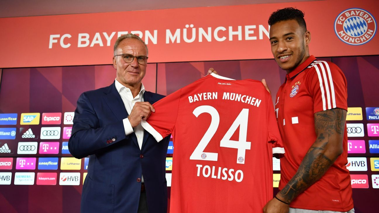 Corentin Tolisso joined Bayern Munich from Lyon.