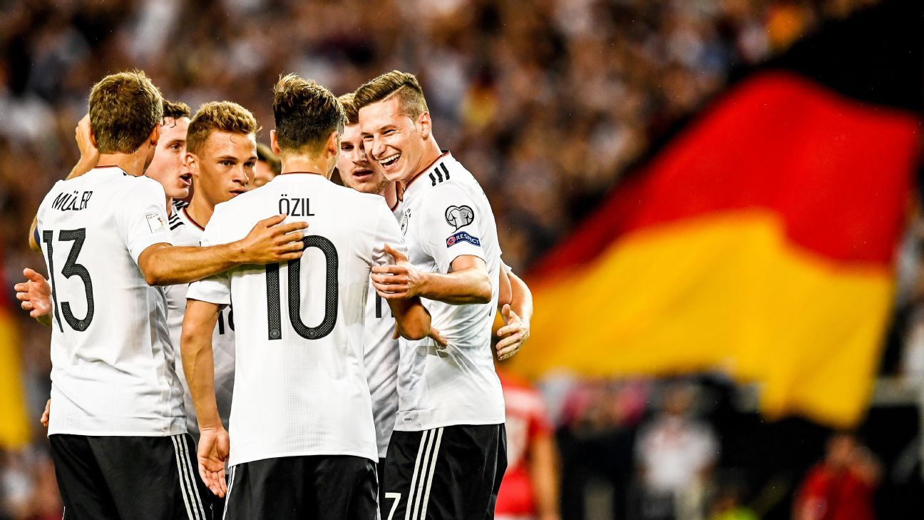 Germany made it eight wins from eight World Cup qualifiers on Monday.