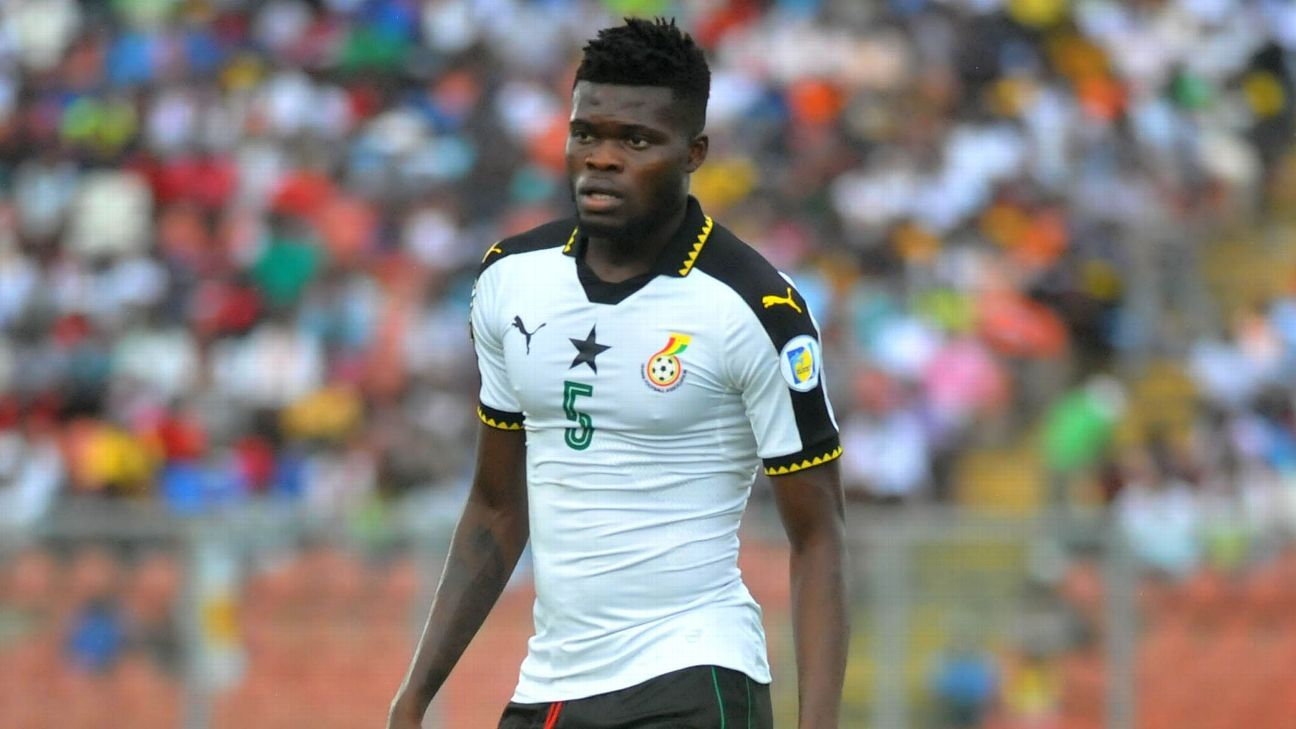 Thomas Partey in action for Ghana