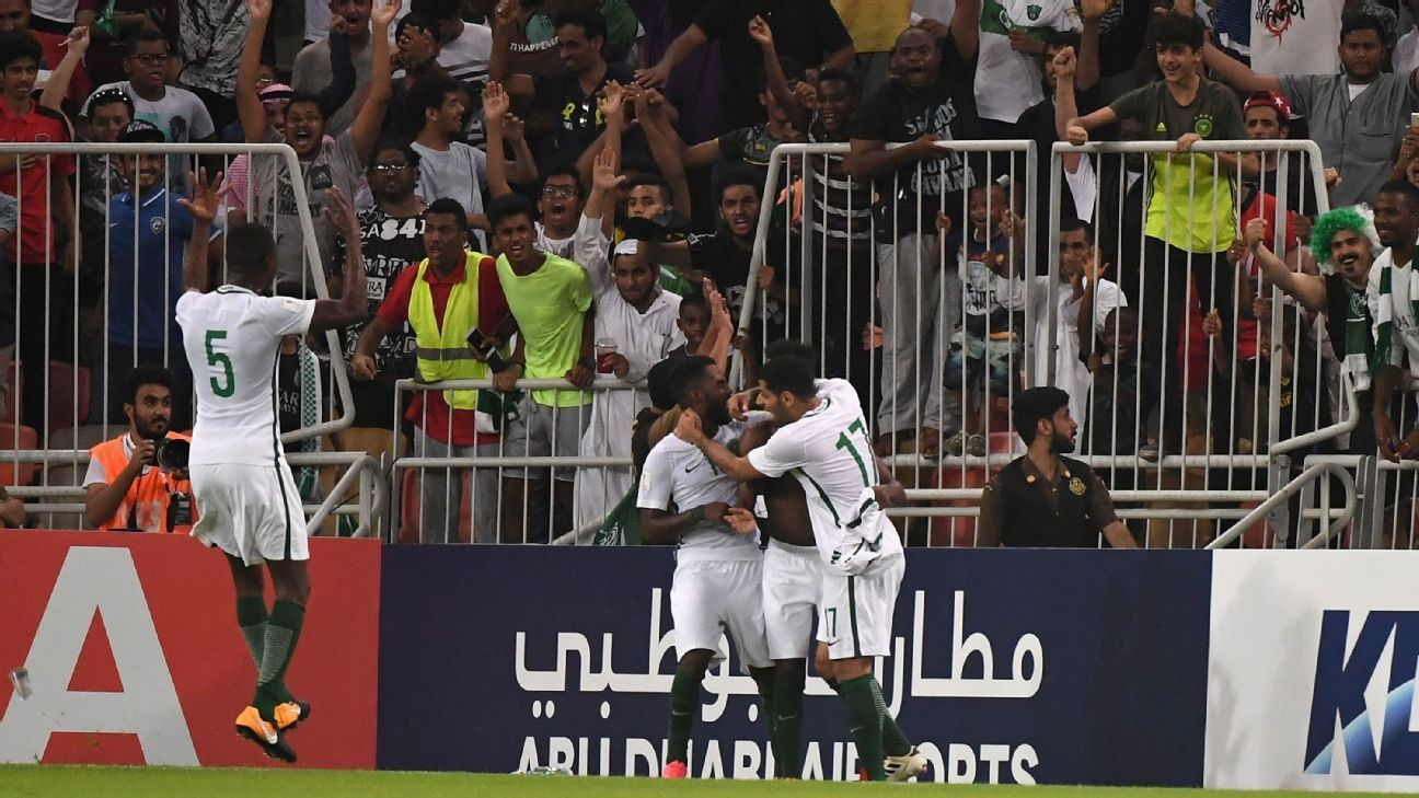 Saudi Arabia will be the lowest ranked team at the World Cup.