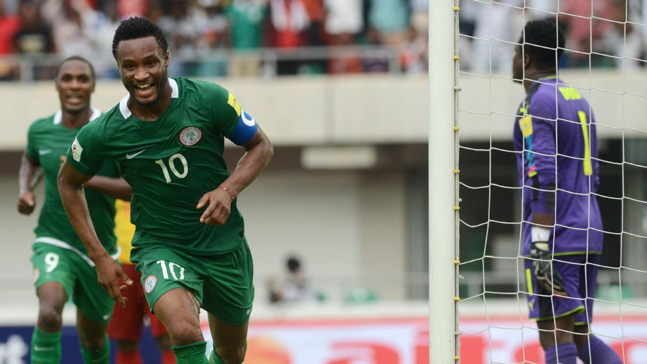 Nigeria captain John Mikel Obi, who scored in the first match of the Russia 2018 qualifiers against Cameroon, has spoken of his team's desire to appease their fans after a poor 2014 FIFA World Cup.