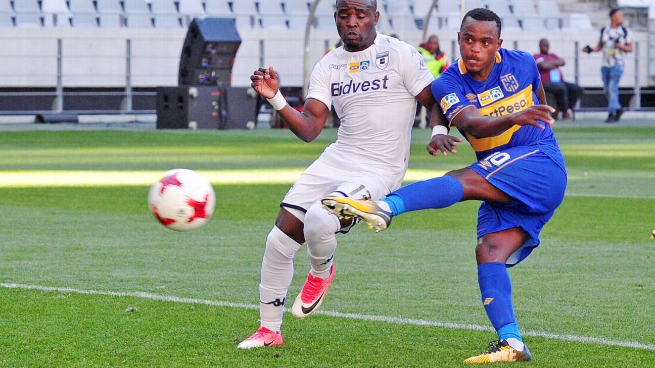 Ayanda Patosi hit the ground running at Cape Town City by scoring fr his new club against Bidvest Wits in the MTN8 semifinal first leg on 27 August 2017.