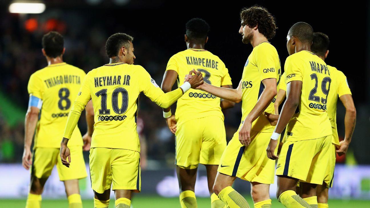 Neymar celeb PSG Metz 170908