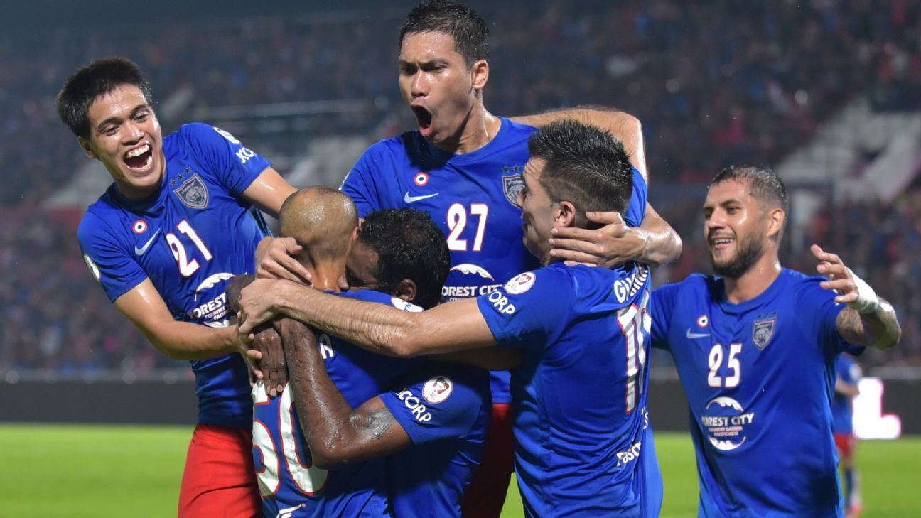 JDT celebrate goal in Malaysia Cup v Selangor