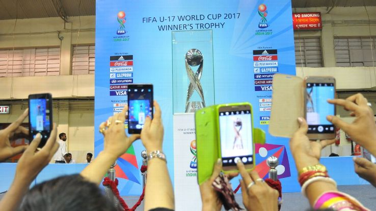 In the spotlight: The whole world was watching as India hosted its first ever global football tournament.