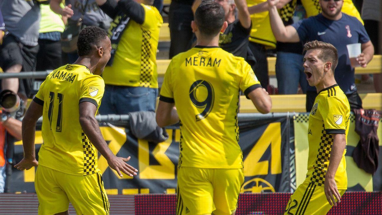 Ola Kamara nets 15th goal in Columbus Crew draw with Sporting KC