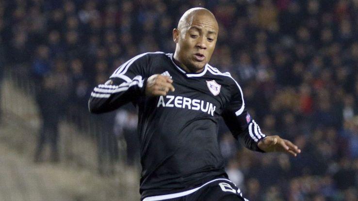 Dino Ndlovu in action for Qarabag