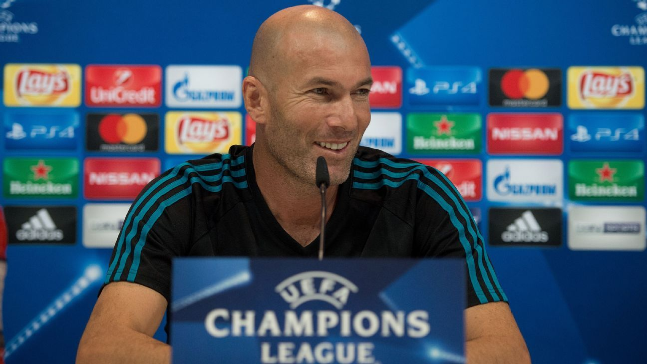Zinedine Zidane speaks ahead of Real Madrid's Champions League opener against APOEL Nicosia.
