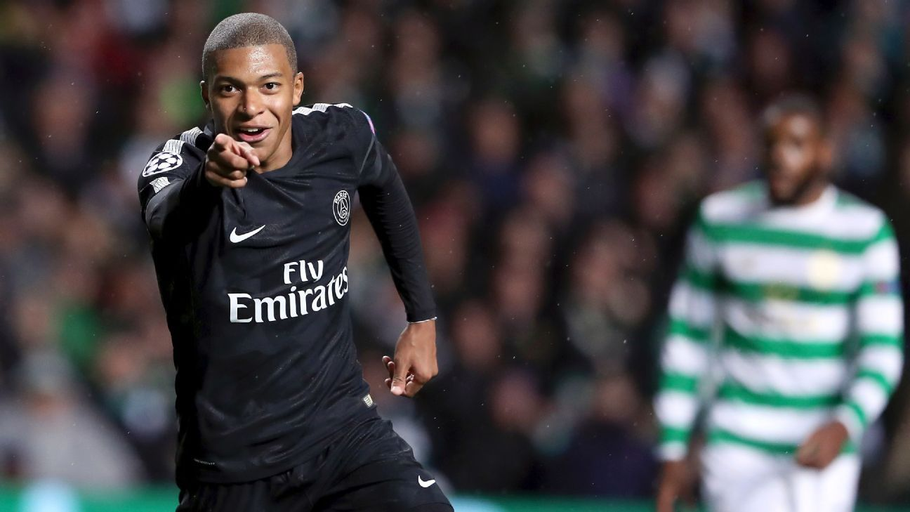 Mbappe celeb vs Celtic 170912
