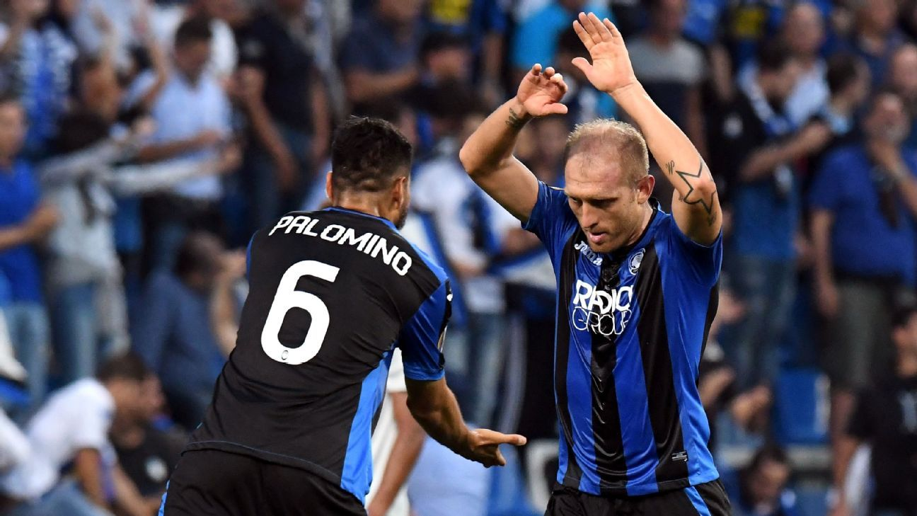 Everton were well beaten in their group stage opener at Atalanta.