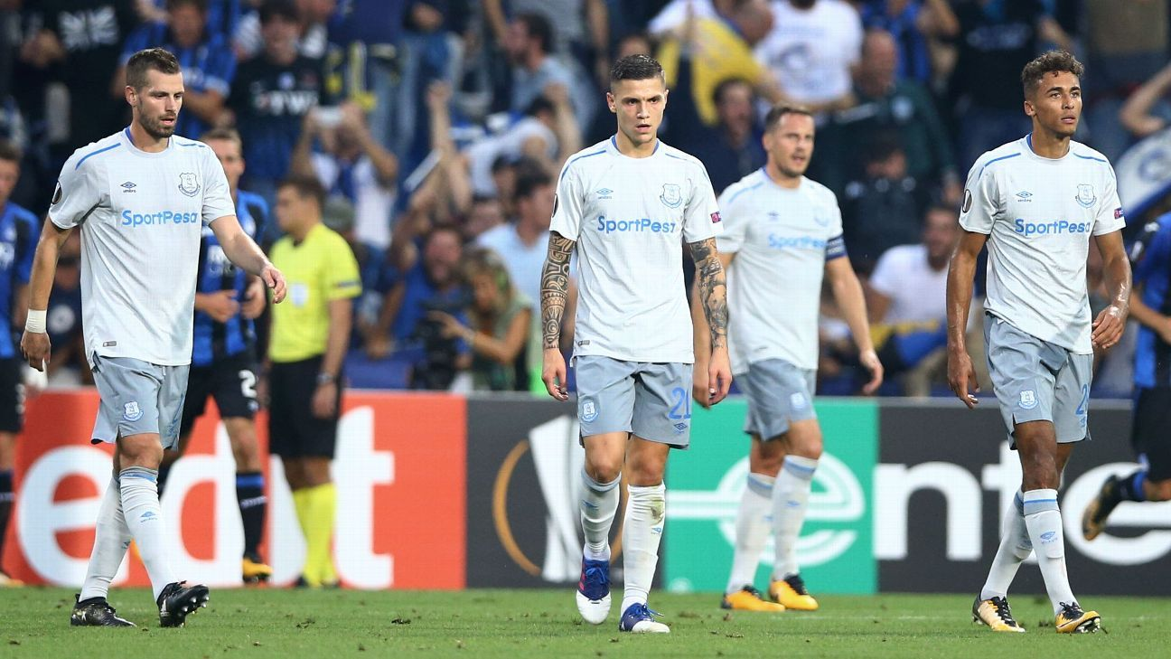Everton were soundly beaten by Atalanta in their Europa League group stage opener.