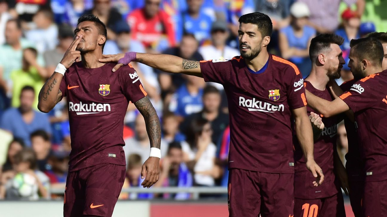 Paulinho rescued Barcelona with his goal in the 84th minute.