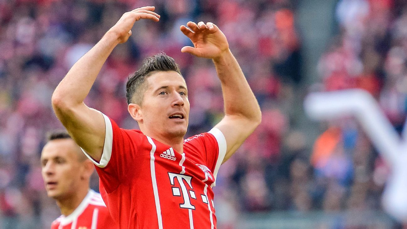 Bayern Munich's Robert Lewandowski