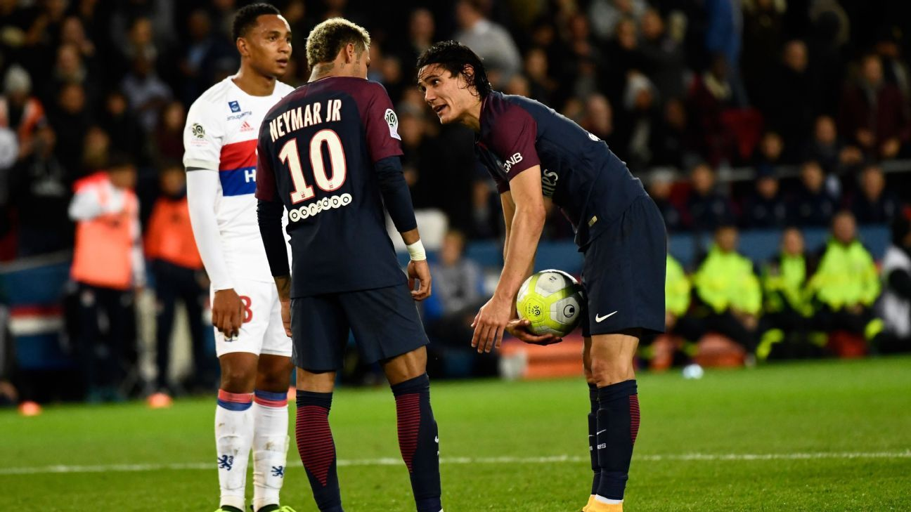 Neymar Cavani squabble vs Lyon 170917