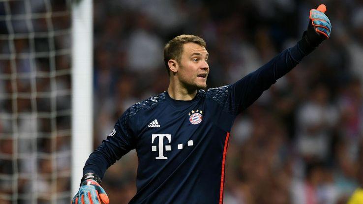 Bayern Munich and Germany goalkeeper Manuel Neuer