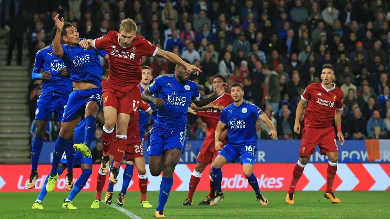 Leicester oust Liverpool in Carabao Cup while Tottenham beat Barnsley