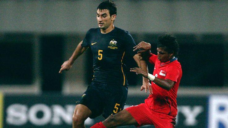 Mile Jedinak makes Australia debut v Singapore 2008