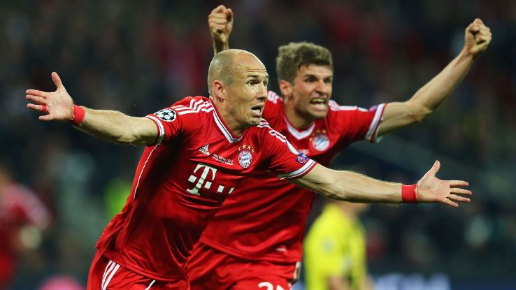 Arjen Robben and Thomas Muller