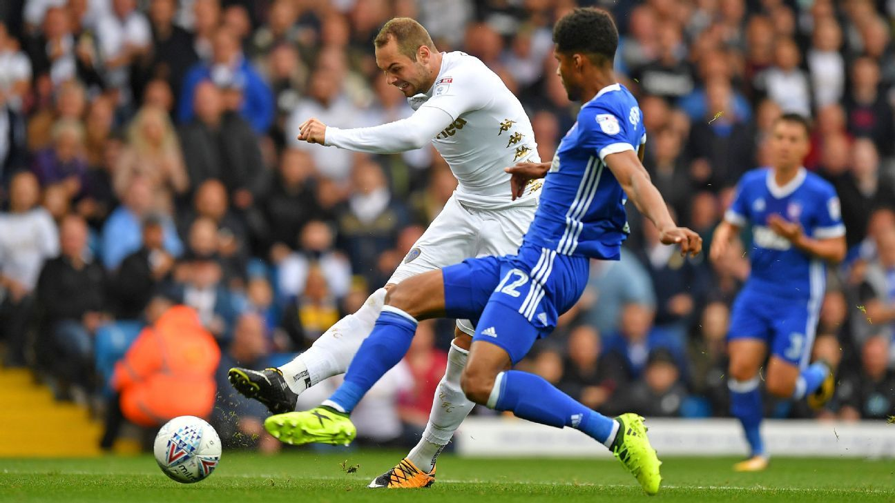 Pierre-Michel Lasogga opened the scoring for Leeds in their Championship win against Ipswich.