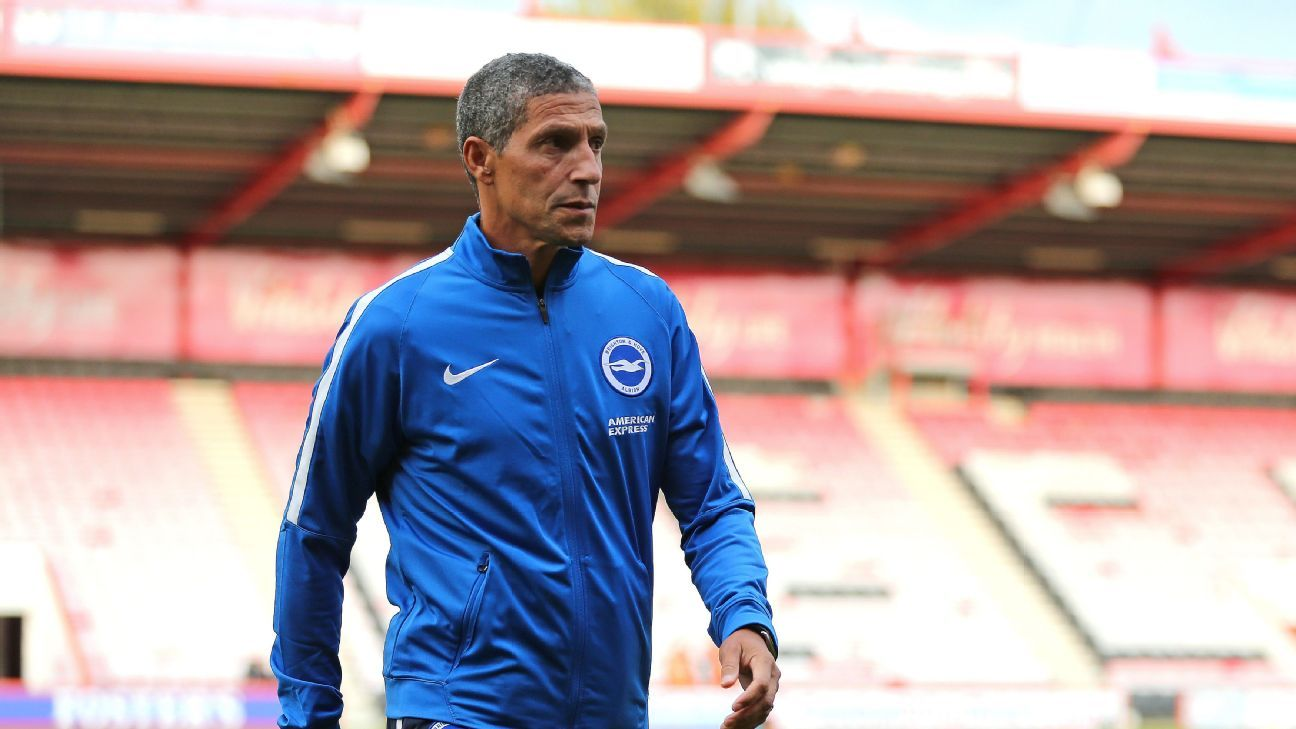 Chris Hughton has been rewarded for keeping Brighton in the Premier League.