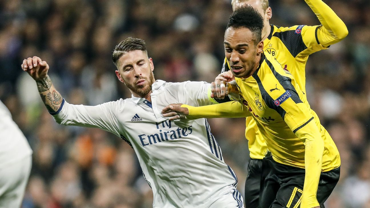 Sergio Ramos and Pierre-Emerick Aubameyang
