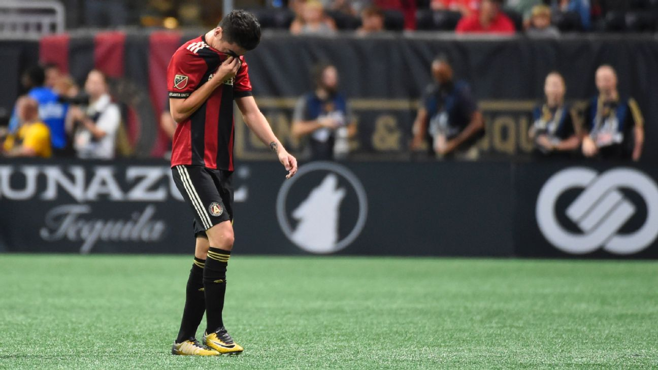 Atlanta United's Miguel Almiron week-to-week with hamstring injury