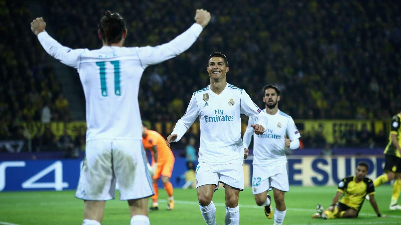 Bale Ronaldo celeb vs Dortmund 170926